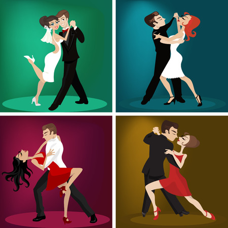 romantic couple dance  Vector