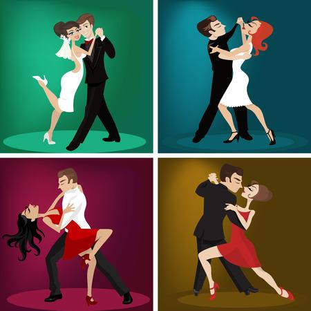 tanzen cartoon: Romantic Couple dance