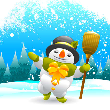 snowman character Stock Vector - 9101963