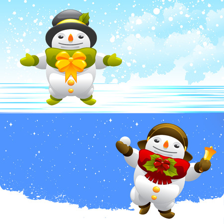 snowman characters  Vector