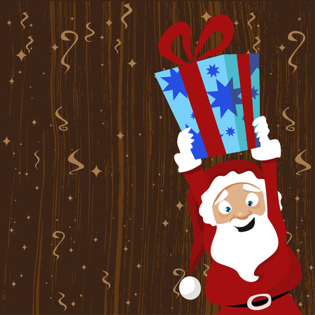santa claus giving gift  Vector