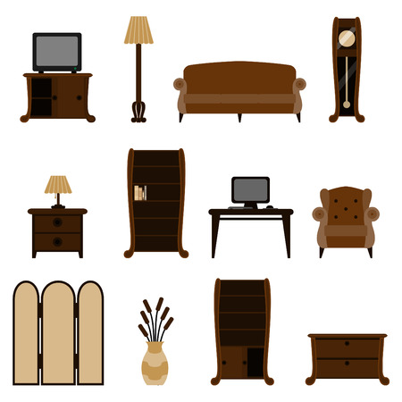 closets: furniture set  Illustration