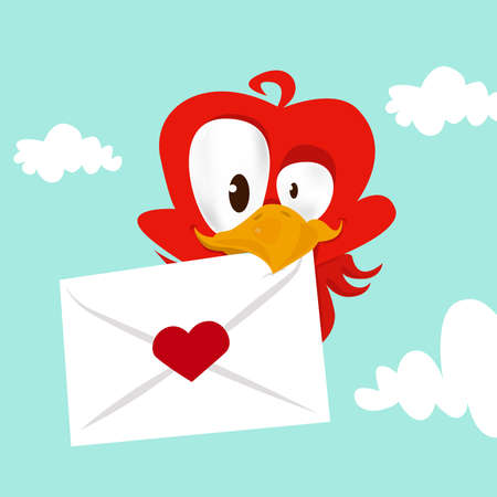 bird love card Stock Vector - 9103135