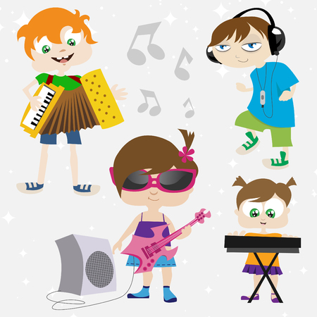 music kids  Vector