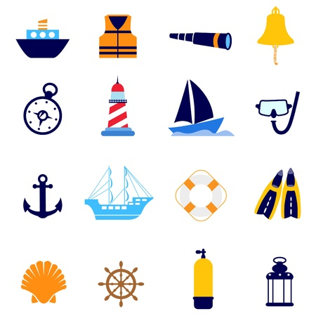 marine industry: nautical icon  Illustration
