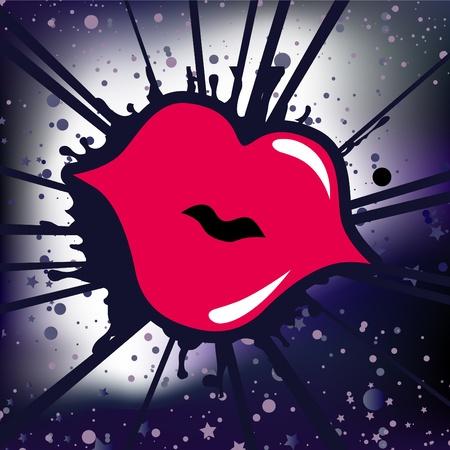 retro lips  Illustration