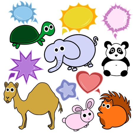 cute animals Stock Vector - 9133300