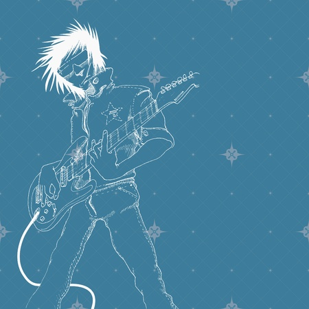 guitar player Stock Vector - 9133345