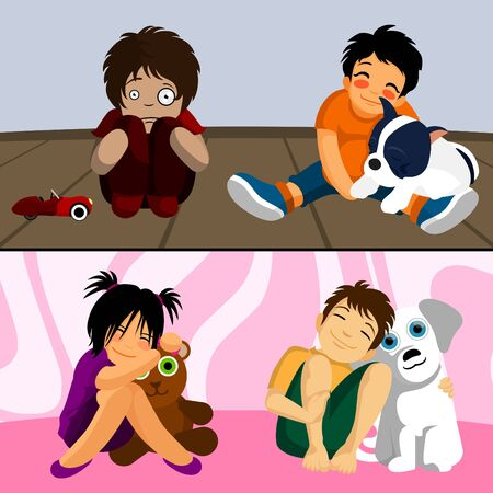 pet with kids  Stock Vector - 9133312