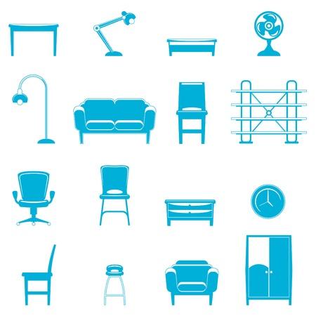 decorative item: furniture icons  Illustration