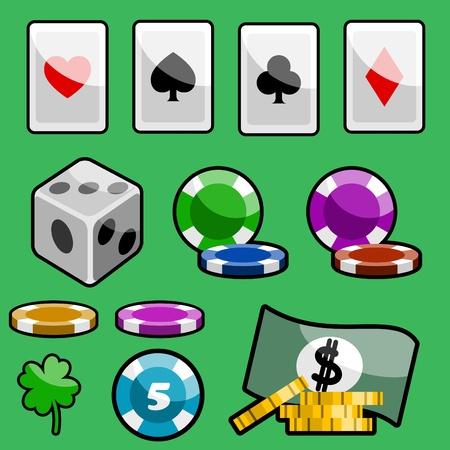 casino design elements Stock Vector - 11131223