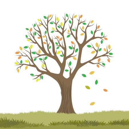 秋のツリー  イラスト・ベクター素材
