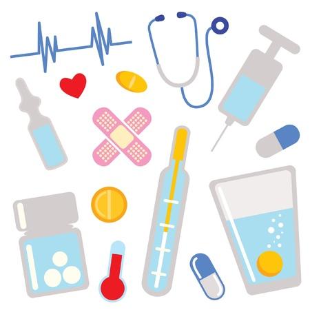 medical box: medical icons. design elements
