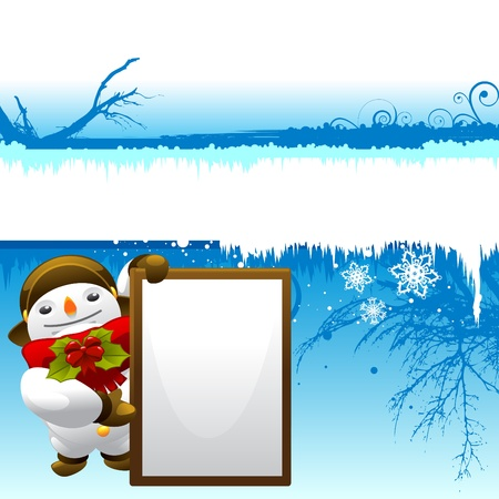 direction board: snowman with message board