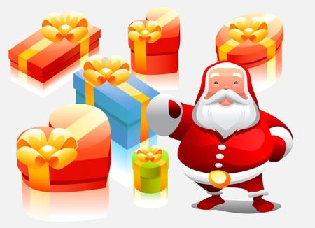 santa with gifts Stock Vector - 11298878
