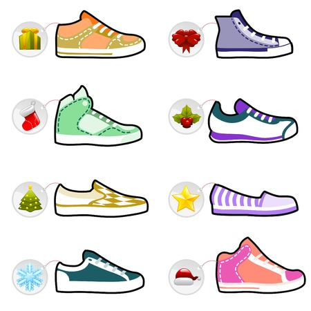 sneakers: shoes with christmas labels