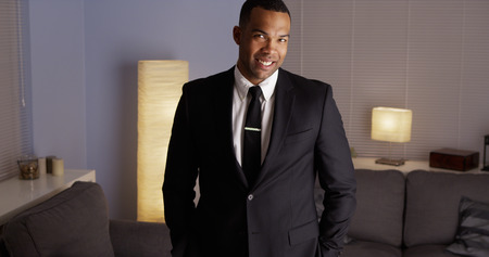 suave: Suave African man wearing a suit