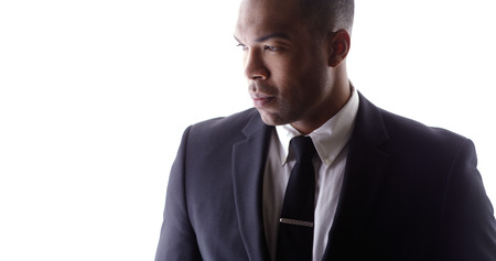 Handsome black man wearing suit Stock Photo