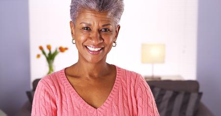 Mature African woman looking at camera