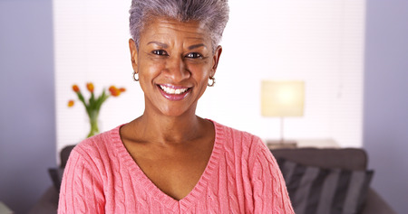 Mature African woman looking at camera