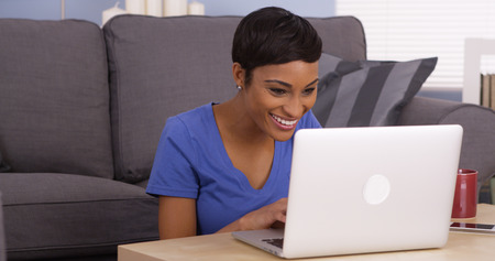 African woman surfing the net photo