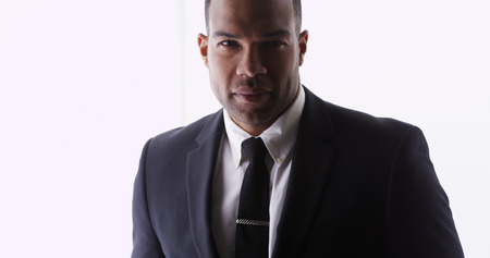 Attractive African man wearing suit photo