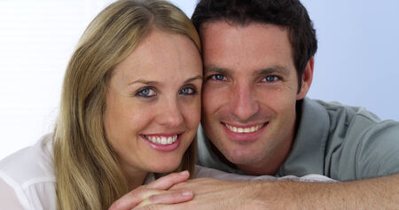 sex appeal: Closeup of couple kissing Stock Photo