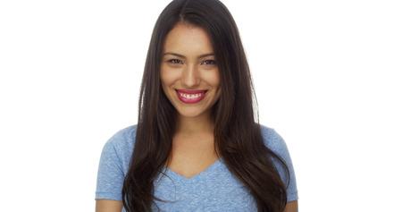 mexican girl: Hispanic woman smiling