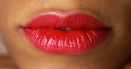 cloesup: Cloesup of red lips Stock Photo