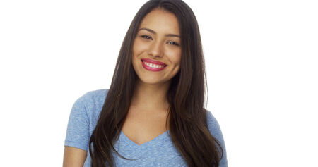 mexican girl: Mexican woman smiling Stock Photo
