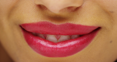 Mexican womans beautiful lips