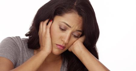 Sad Mexican woman 免版税图像