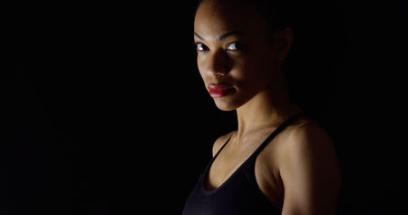 moody: Moody portrait of black woman