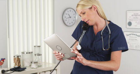 maternity leave: Pregnant nurse working until she goes on maternity leave