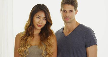 Portrait of interracial couple photo