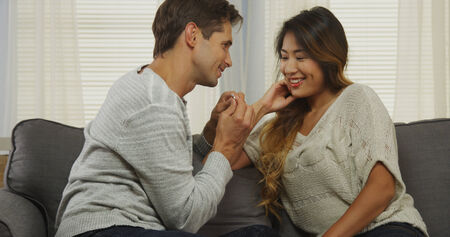gets: Interracial couple gets engaged!