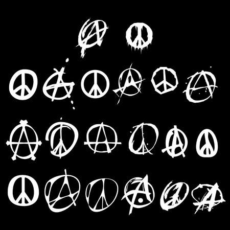 peace flag: anarchy and peace logo