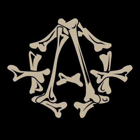 anarchy: anarchy symbol is made of bones