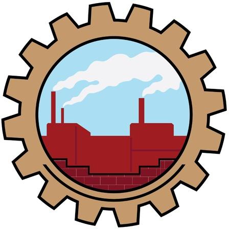 ikona fabryka Ilustracje wektorowe