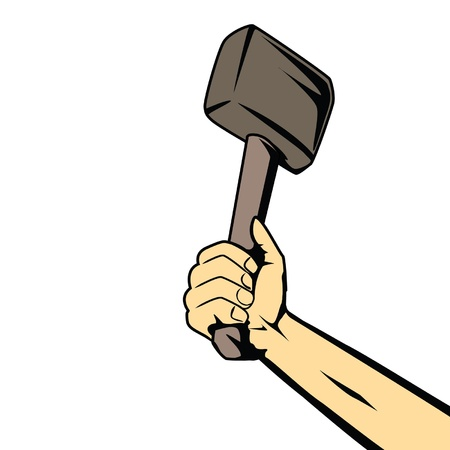 hammer in strong hand   Stock Vector - 11307011