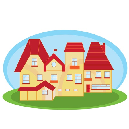 colour houses small illustration   Vector