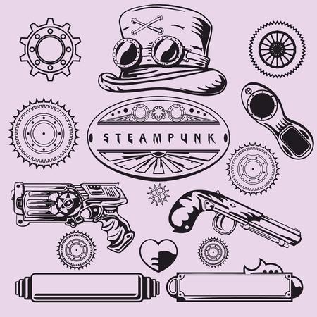 vintage element: Steampunk Vintage Element Set Illustration