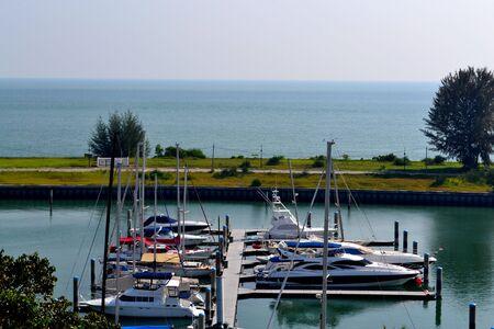 yacht club: Port Dickson Boat Yacht Club Facing Wide Open Ocean