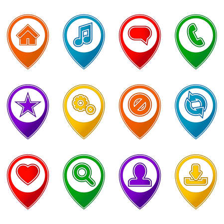 Icon pack - colored icons for website Vector