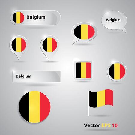 Belgium icon set of flags | black red yellow template | Belgium Vector