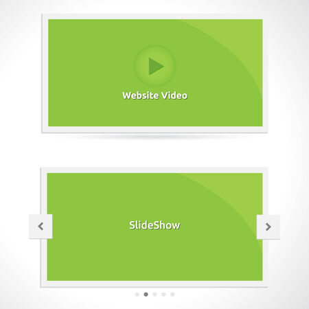 slideshow: SlideShow and Video | Website template | paper design | silver look | color gray white dark
