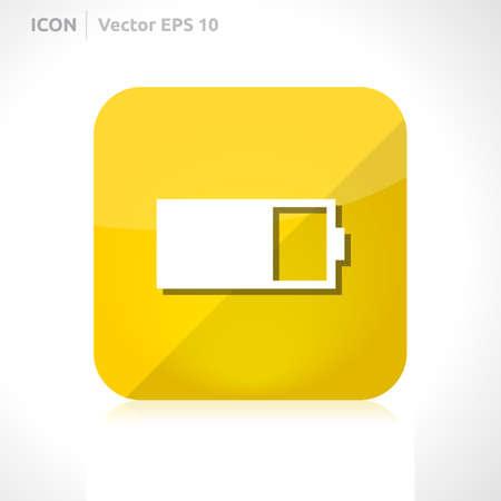 Battery icon design template  Vector