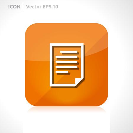 List icon design template  Vector