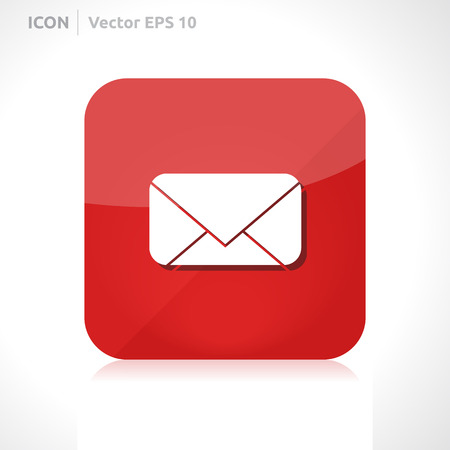 Message icon | vector design template | color red | icon set | abstract with symbol | Vector
