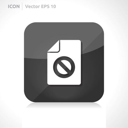 Blocked file icon | vector design template | color dark | icon set | abstract with symbol | Illustration